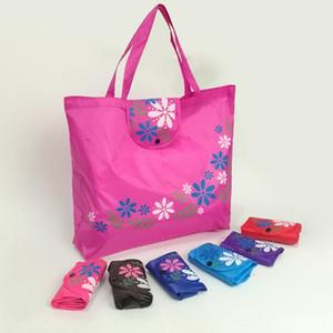 Творческий китайский стиль цветочки кнопка мода сумка для хранения застежка сумка классический 210D Оксфорд ткань складной хозяйственная сумка T2D5004