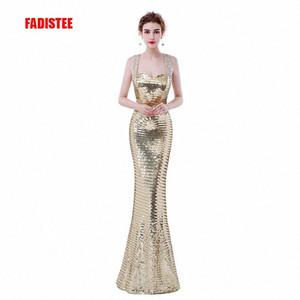 FADISTEE nuevo diseño de vestidos de noche elegantes lentejuelas vestido formal del partido vestidos de festa cordones de la sirena bling el vestido largo uJVw #