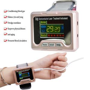 당뇨병 반도체 치료 CE 콜드을위한 650 ㎚ 레이저 치료 시계 홈 손목 다이오드 고혈압 고혈압 지방 설탕