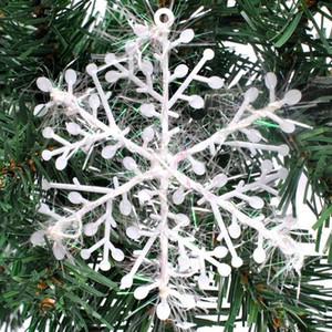 10PCS / 홈 인공 눈 크리스마스 트리 장식을 위해 많은 크리스마스 흰색 플라스틱 냉동 눈송이 크리스마스 선물 장식