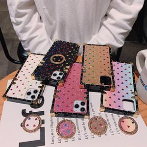 Fashion Designer Phone pour iPhone 11 X XS MAX XR 8 7 Marque PU cuir téléphone portable pour couvrir les cas Galaxy Note 10 S20 S10 shell Béquille