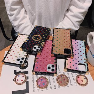 Fashion Designer Phone Case para IPhone 11 X XS MAX XR 8 7 Marca PU de couro Casos Celular Capa para Galaxy S20 S10 Nota 10 Kickstand shell