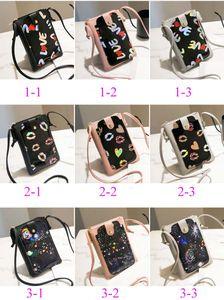 100pcs 2019 Women Floral Printed Fashion Persoanl Flap Phone Cross Body Bag 9colors