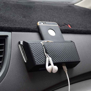 Car EVA Carrying Organizer Storage Double-layer Sticker Bag for Phone Coin Key(Big Size)