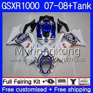 7Gifts + Tank Lucky blue stock Für SUZUKI GSXR-1000 K7 GSX-R1000 GSXR 1000 07 08 301HM.7 GSXR1000 07 08 Karosserie GSX R1000 2007 2008 Verkleidungen