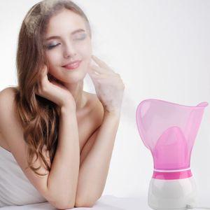 Limpiador facial profunda de vapor vapor de la cara poros limpiador rociador de la niebla Spa Sauna piel vaporizador con el adaptador de color al azar