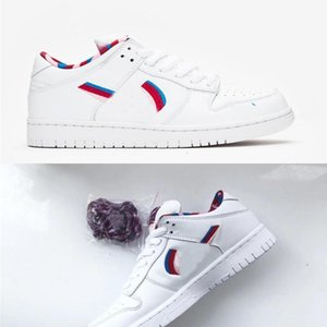 2020 New Parra X Sb Dunk Low White Pink Furry Rose Gym Red Casual Shoes Mens Women Sneakers sports shoes With Box Cn4504 -100