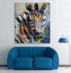 Oil Animal Art Handpainted abstrato moderno Pintura Zebra On Canvas Wall Art Decoração Alta Qualidade a57
