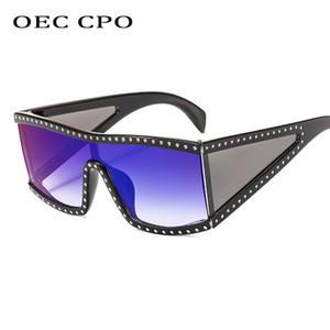OEC CPO Vintage Gafas de sol cuadradas de gran tamaño Mujeres Hombres Moda Marco grande Gafas de sol a prueba de viento Hombres Sombras Gafas de conducción UV400L93