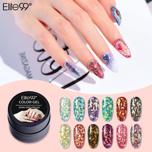 Elite99 Glitter Gel 5ml ongles semi-permanente Vernis UV Polish Soak Off Gel Paillettes Laque Manucure Nail Art polonais
