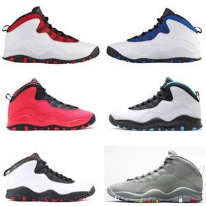 10s мужские ботинки баскетбола Cement Я вернулся Уэстбрук Холодный серый Инфракрасный Stealth Powder Blue 10s X Спортивные кроссовки Размер 7-13