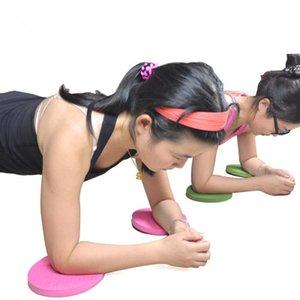 Confezione da 2 Plank allenamento Knee Pad Cuscino rotondo Schiuma Yoga Eliminare ginocchio polso Dolore del gomito Tappeti da Ginnastica Spessore 20 millimetri