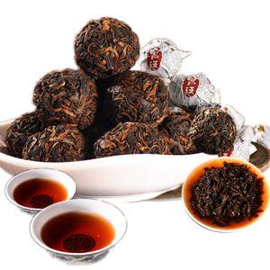 Promotion Ripe Puer Tea Yunnan Ball Shape Palace Black Pu'er Tea Organic Natural Pu'er Old Tree Cooked Pu'er Tea