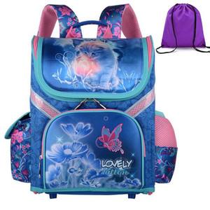 Girl School Backpacks Children School Bags Orthopedic Backpack Cat Butterfly Princess Bag for Girl Kids Satchel Knapsack Mochila