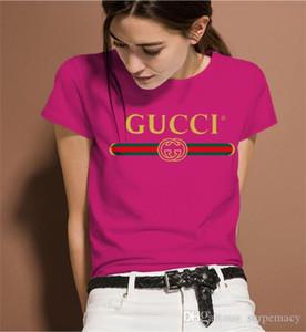 2020 новый люкс женщин Дизайнер Летняя мода Slim Fit Luxury T Shirt Плюс Размер коротким рукавом V шеи женщин Одежда Топы Размер M-3XL