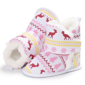 Newborn Baby Girls Toddler Athletic & Outdoor Shoes kids Geometry casual Christmas Fur Boots Soft Sole Crib Shoes Booties Prewalker one pair