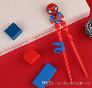 Outlet Çocuk Chopsticks Eğitim Chopsticks Bebek Kaptan Amerika Pratik Chopsticks Ev Bebek Spiderman Öğrenme Chopstick