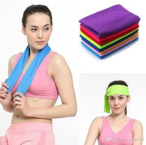 New Erfrischungstuch Sommersport Ice Cooling Handtuch Double Color Hypothermie kühlen Handtuch 33 * 88cm für Kinder Erwachsene Sport Handtücher 2934
