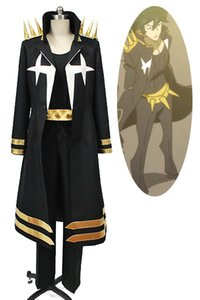 Form Cosplay Kill la Kill Uzu Sanageyama Cosplay Roupa Set Black and Gold final três estrelas Goku Uniforme