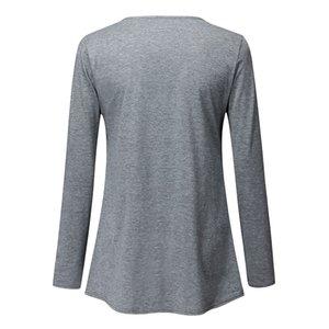 Bakım kadınlar için emzirme giysi için bir T-shirt Üst o-Neck Hamile uzun Kol CF beslenmesi için Blouse bahar