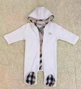 New Baby Boys Girls Jumpsuits Clothes Designer Newborn Clothes kids Designer Baby Hooded Rompers Infant Romper