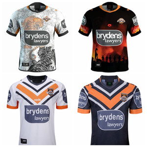 Top New 2018 2019 2020 2021 West tiger rugby Jerseys home away Rugby League jersey 19 20 21 shirts S-3XL