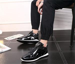 nero lucido brillante Mr. elegante tappeto rosso preferito scarpe di qualità 2020 all'ingrosso coreana alla moda scarpe stilista oro argento