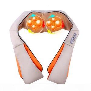 wholesale U Shape Electrical Shiatsu Back Neck Shoulder Body Massager Infrared Heated Kneading Car Home Massagem