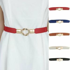 Femmes Mode Faux Ceinture en cuir dames ceinture robe bande étroite boucle mince ceinture