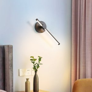Modern creative wall light Simple bedroom bedside lamp living room stairway aisle LED strip personality wall lamp lighting RW214