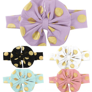 INS gilded dots bowknot head INS gilded dots baby Hair band butterfly butterfly baby bowknot hair band headband