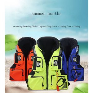 High Quality Men Women Reflective Breathable Quick Dry Life Safety Vests Outdoor Sports Fishing Vest Workplace Safety Supplies T191226