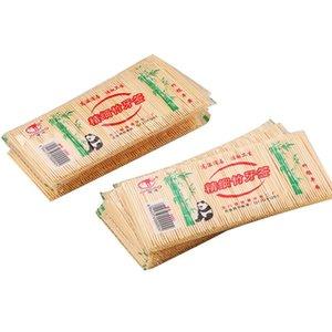 250PCS / bolsa desechable de madera de bambú natural dental palillo de dientes Para el hogar del restaurante del hotel Productos Palillos Herramientas