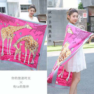 Spring and summer new season luxury new female hot atmosphere class brand designer outdoor scarf and shawl beach free send 135*135cm