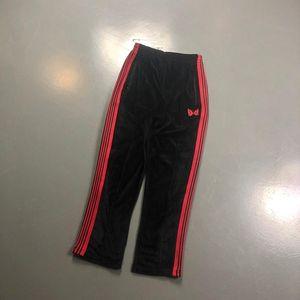 Erkekler Kadınlar Casual AWGE X İğneler Sweatpants 19SS VELOUR Kelebek Nakış Pantolon AWGE X İğneler Pantolon NARROW