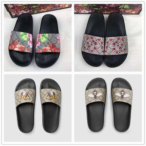 NEU Männer Frauen Sandalen Designer-Schuhe Luxus Slide Summer Best Fashion breite flache Slippery Sandalepantoffel Größe 35-45 Blume