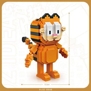 LOZ 만화 가필드 오디 귀여운 개 고양이 빌딩 블록, 미니 DIY, 아이 생일 선물을위한 교육 장난감, 장식을 조립 2-2 Collenting