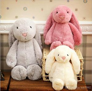 Conejito de 12 pulgadas 30cm felpa rellena oído de conejo de juguete creativo muñeca suavemente largas de regalo de cumpleaños animal de Pascua