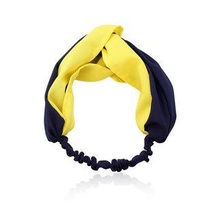 En gros Femmes Bandeau Élastique De Mode Patchwork Bandeaux Torsadés Pour Dames Cheveux Arc Turban Croix Headwrap Ornement