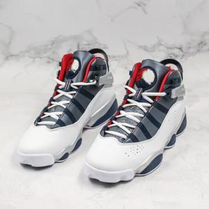 2020 새로운 6 반지 남자 농구 신발 기가 희귀 빈티지 챔피언 팩 은색 늑대 화이트 블루 패션 디자이너 여자 스포츠 트레이너 스니커즈
