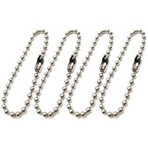 300 stücke Verschluss Kugelketten Lange Perle Connector Metall Hängende Antique Einstellbare Keychain Key Ringe Tags Perle Stahlketten