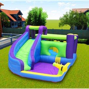 Aufblasbare Bounce Slide Haus Jumper Water Slide Park Combo für Kinder im Freien Partei Bouncer Slide mit Pool