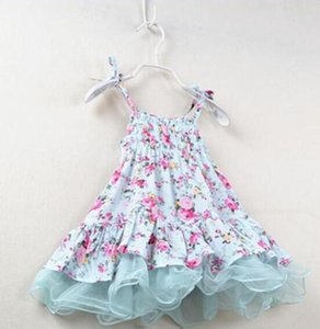 wholesale 2016 summer baby girls kids vintage flower tutu dress floral dresses pettiskirt tulle skirt lace ballet princess dress