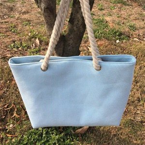 seersucker einkaufstasche tasche frauen seersucker seil handtasche seil strand handtasche dame große streifen einkaufstasche dhl frei