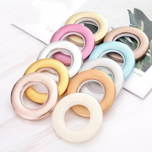 New Fashion Curtain Accessories Nano Mute Bright edge grinding Roman Grommets Eyelet Hole-digging Circle Slide Rings Curtain Poles