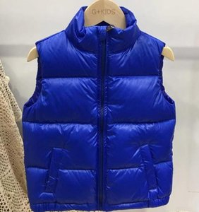best shipping new Winter Children Waistcoat Boys Girls Thick Vest Coat Stand Collar Solid Warm Sleeveless Jacket coat SIZE 100-150