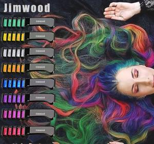 لمرة واحدة الشعر ماسكارا تصميم جديد الطباشير الملون الطباشير للون المؤقتة صبغ الشعر أزرق مع مشط