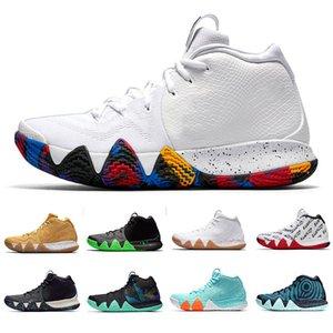 جديد حار بيع Kyrie الأسود 4 ماجيك Basketba 4S أحذية السحر الاسود لكرة السلة للبيع أعلى جودة Kyrie الرياضة حذاء رياضة حجم 7-12
