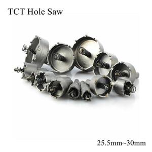 25.5mm 26mm و27MM 28MM 30mm وTCT هول المنشار بليد HSS المعادن مثقاب كربيد تلميح كتر شغل المعادن غير القابل للصدأ سبيكة الحديد الصلب