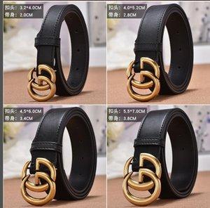 *** GG cinturón de cuero superior de la hebilla del cinturón Diseñador Hombre Mujer Hombre alta calidad nueva cinta de salida libre + + 2.0cm 3.4cm 3.8cm +